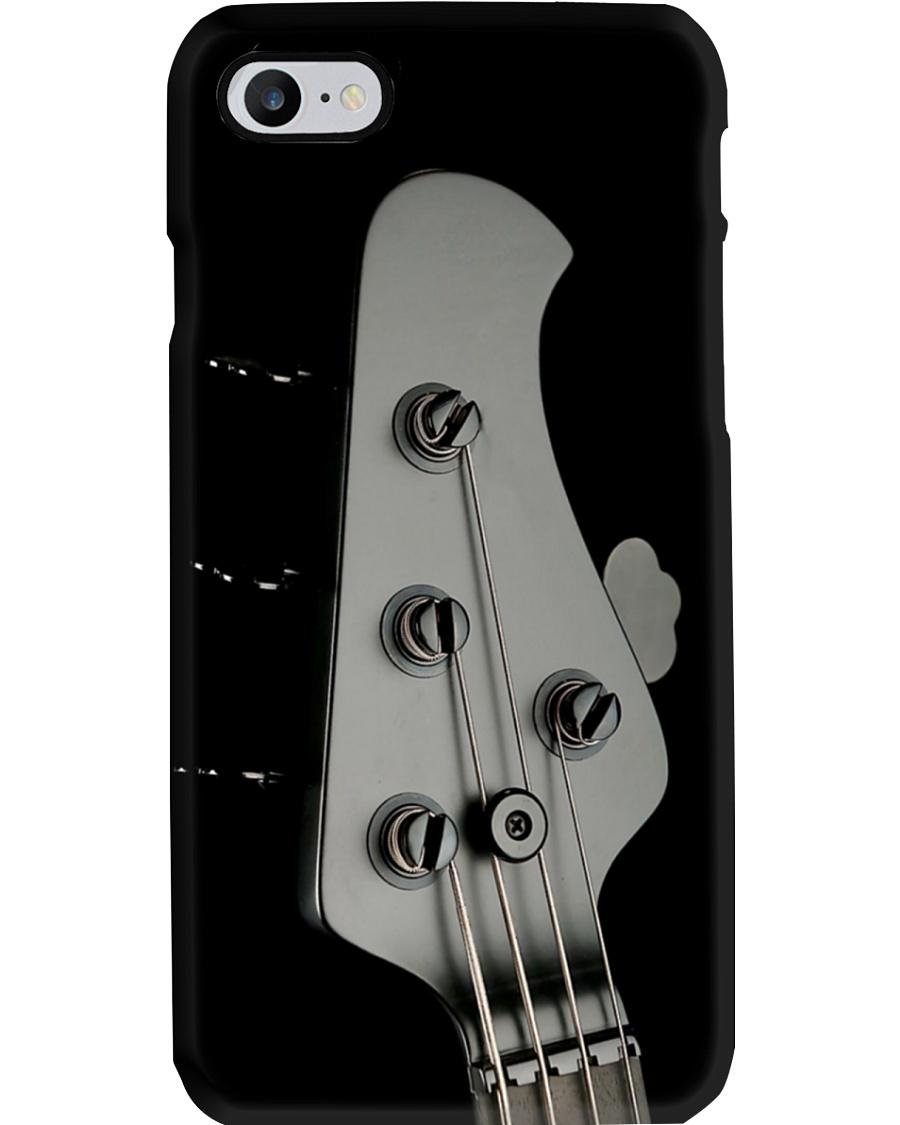 Bass Guitar Black Head Phone Case