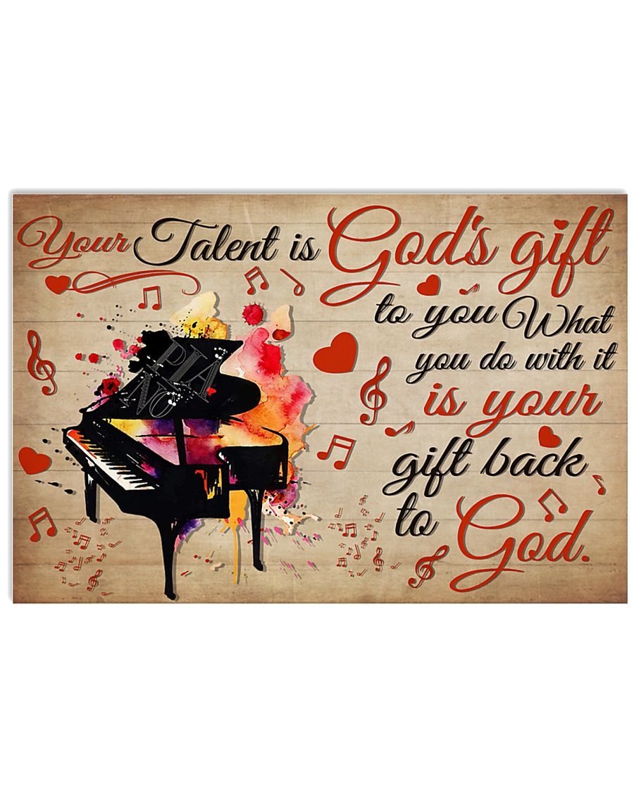 Pianist Your Gift To God 17x11 Poster
