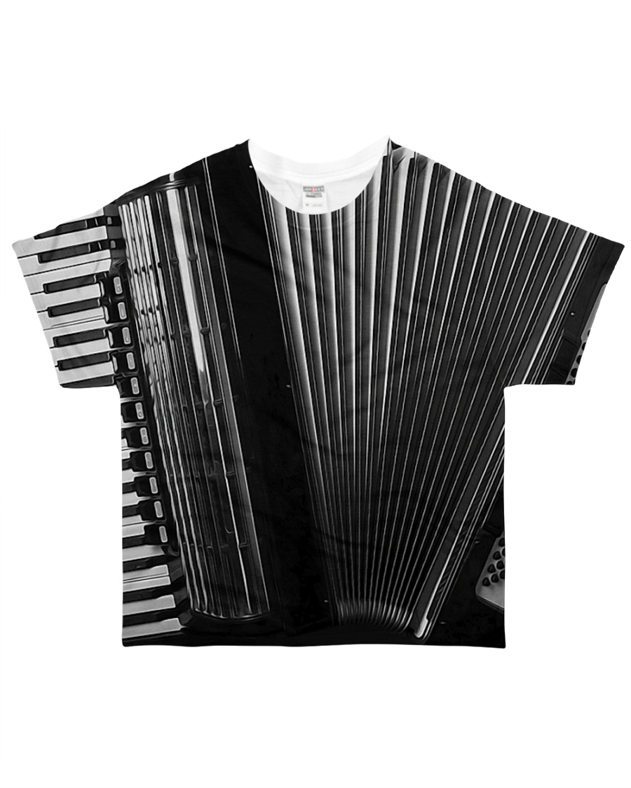 Accordion Black All-over T-Shirt