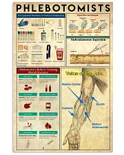Phlebotomists Knowledge 11x17 Poster front