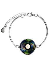 DJ - Vinyl Record Metallic Circle Bracelet thumbnail