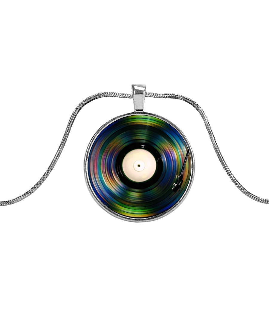 DJ - Vinyl Record Metallic Circle Necklace
