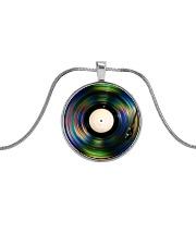 DJ - Vinyl Record Metallic Circle Necklace front