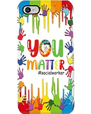 Social Worker You Matter Phone Case i-phone-7-case