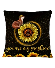 Otter You are my sunshine Square Pillowcase tile