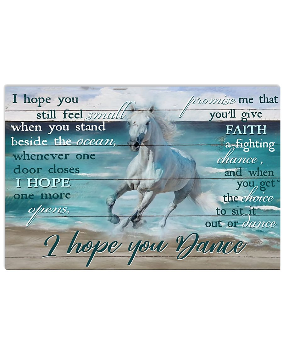 Horse Girl I Hope You Dance 17x11 Poster
