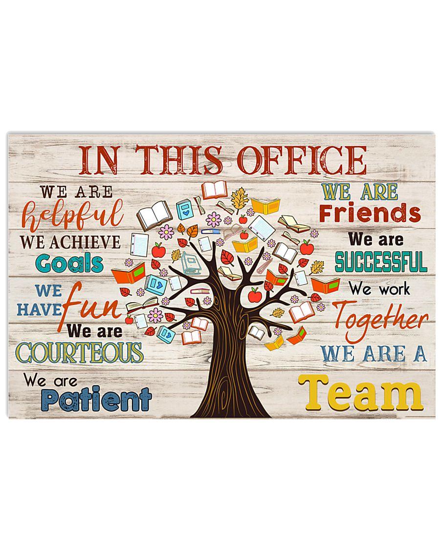 Teacher we are a team  17x11 Poster