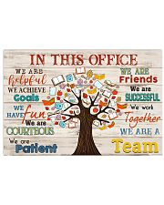 Teacher we are a team  17x11 Poster front