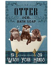 Otter wash your hands 11x17 Poster front