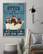 Otter wash your hands 11x17 Poster lifestyle-poster-1