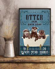 Otter wash your hands 11x17 Poster lifestyle-poster-3