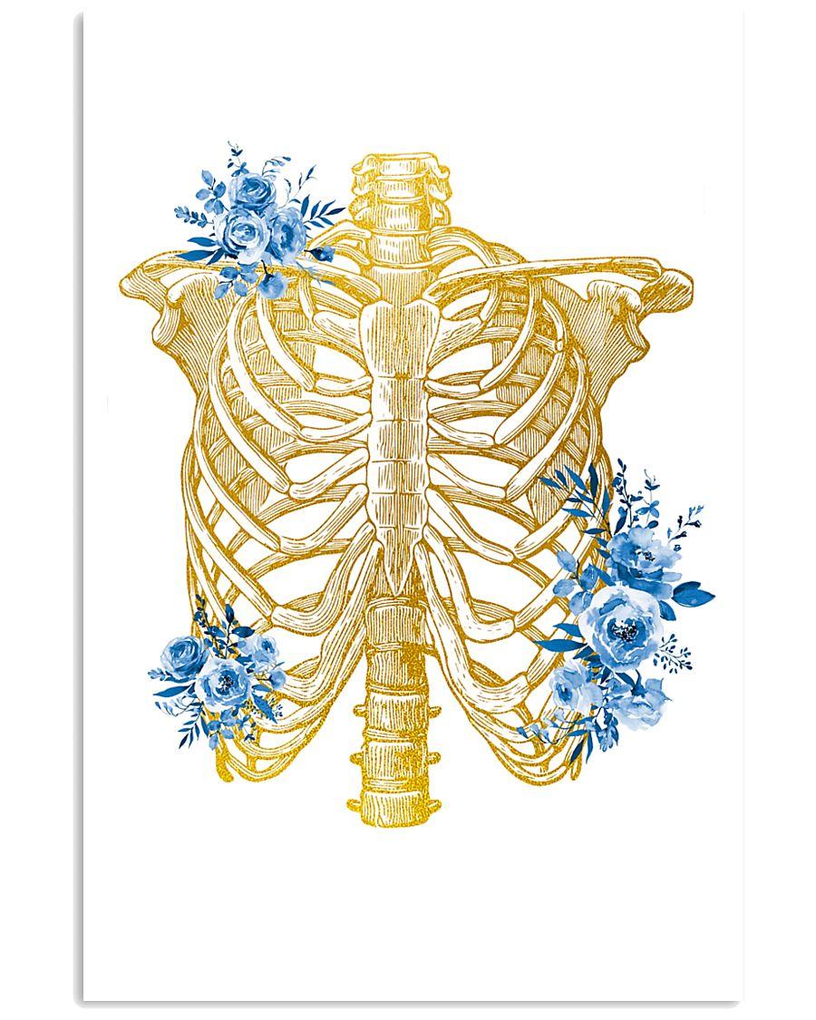 Radiologist Floral Human Chest Skeleton 11x17 Poster