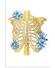 Radiologist Floral Human Chest Skeleton 11x17 Poster front