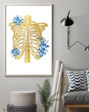Radiologist Floral Human Chest Skeleton 11x17 Poster lifestyle-poster-1