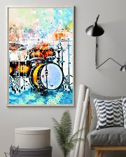 Drummer Colorful Drum Set Watercolor Art 11x17 Poster lifestyle-poster-1