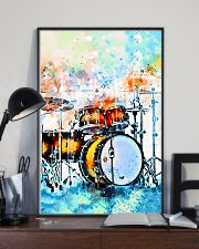 Drummer Colorful Drum Set Watercolor Art 11x17 Poster lifestyle-poster-2