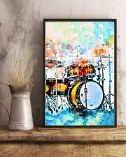 Drummer Colorful Drum Set Watercolor Art 11x17 Poster lifestyle-poster-3