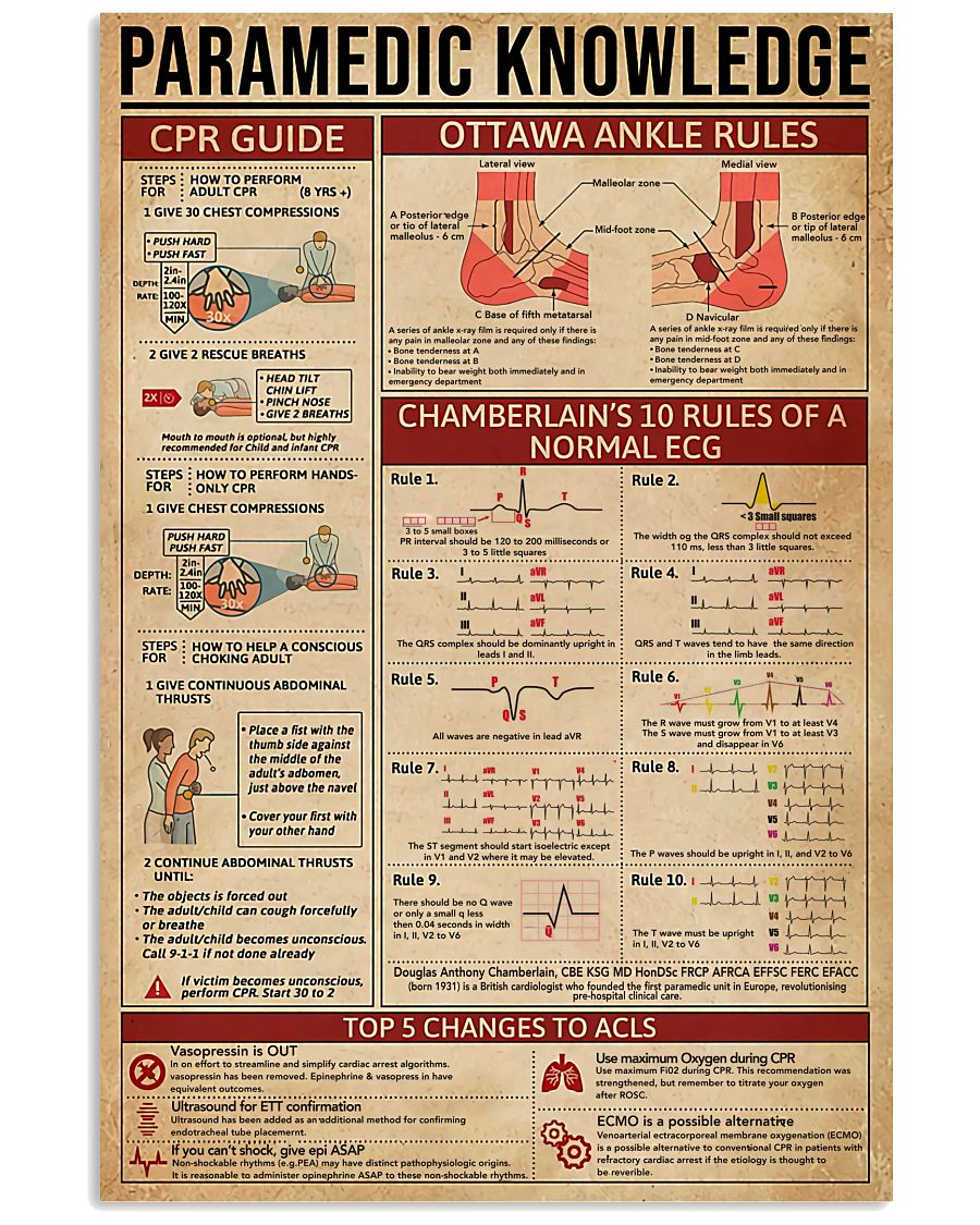 Paramedic Knowledge 11x17 Poster