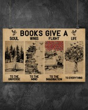 Librarian Books Give A Soul To The Universe 17x11 Poster aos-poster-landscape-17x11-lifestyle-12