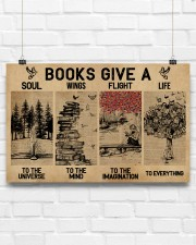 Librarian Books Give A Soul To The Universe 17x11 Poster aos-poster-landscape-17x11-lifestyle-17