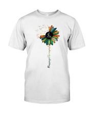 Massage Therapist Colorful Sunflower Premium Fit Mens Tee thumbnail