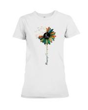 Massage Therapist Colorful Sunflower Premium Fit Ladies Tee thumbnail