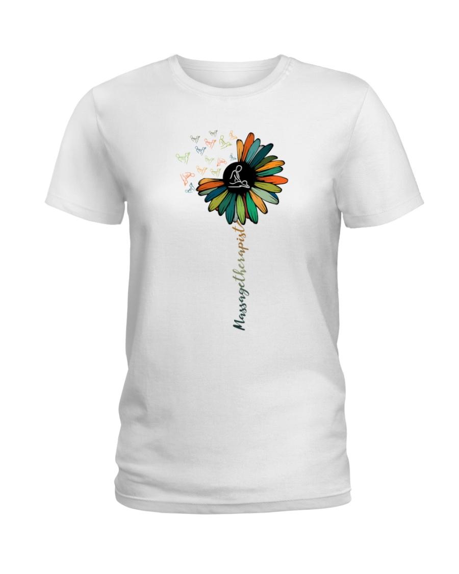 Massage Therapist Colorful Sunflower Ladies T-Shirt