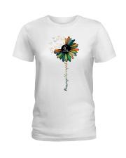 Massage Therapist Colorful Sunflower Ladies T-Shirt front