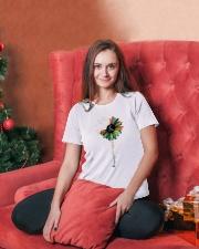 Massage Therapist Colorful Sunflower Ladies T-Shirt lifestyle-holiday-womenscrewneck-front-2