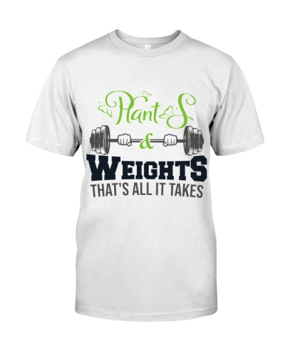 Dietitian Plant and Weights That's all it take