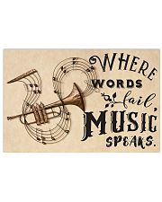 Trumpet where words fail music speaks 17x11 Poster front
