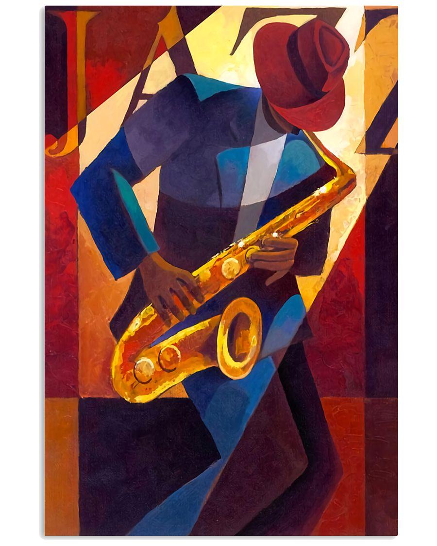 Saxophone Man Art Saxophonist Gift 11x17 Poster