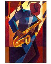 Saxophone Man Art Saxophonist Gift 11x17 Poster front