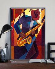 Saxophone Man Art Saxophonist Gift 11x17 Poster lifestyle-poster-2