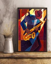Saxophone Man Art Saxophonist Gift 11x17 Poster lifestyle-poster-3