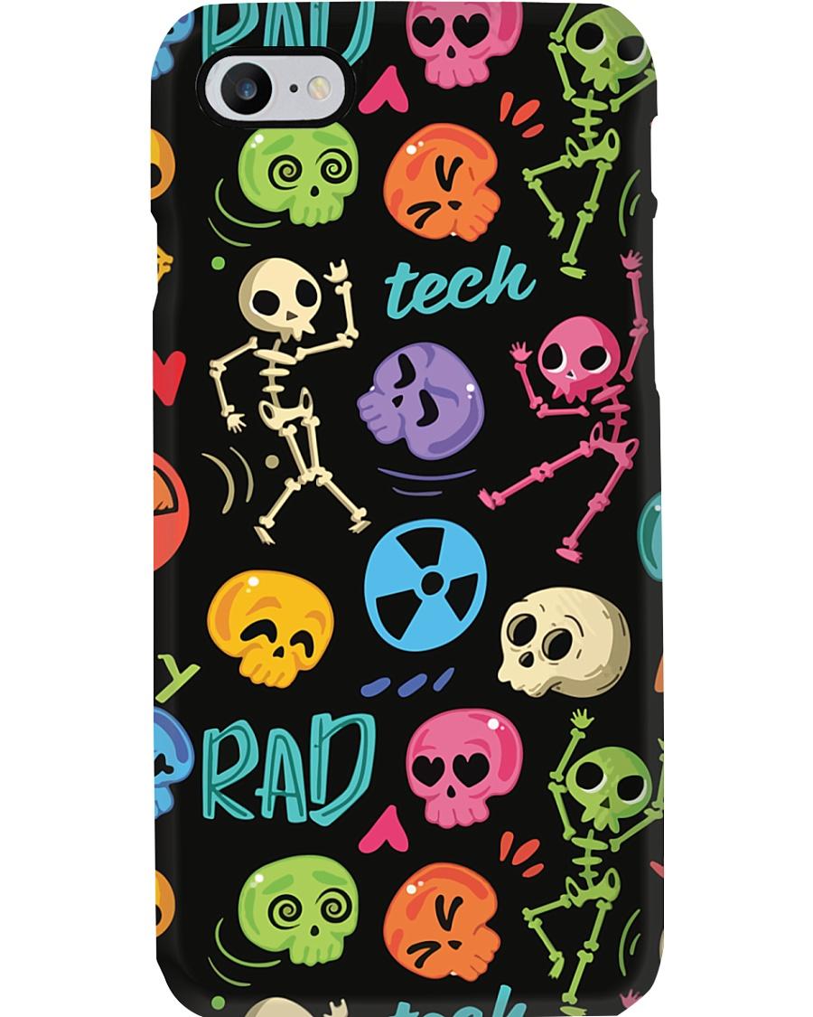 Radiologist Colorful Radiology Skeleton Icons Phone Case