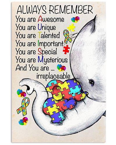 Autism Awareness Always Remember Poster