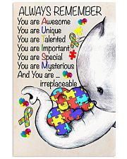 Autism Awareness Always Remember Poster  24x36 Poster front