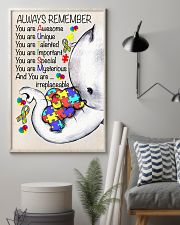 Autism Awareness Always Remember Poster  24x36 Poster lifestyle-poster-1