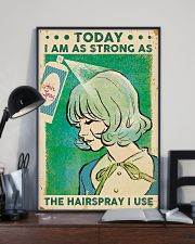 Hairdresser Strong As Hairspray 11x17 Poster lifestyle-poster-2