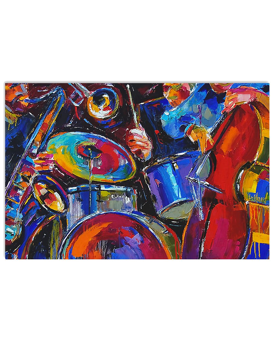 Drummer and friends 17x11 Poster