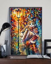 Cat Playing Accordion 11x17 Poster lifestyle-poster-2