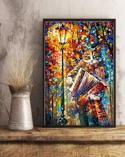 Cat Playing Accordion 11x17 Poster lifestyle-poster-3