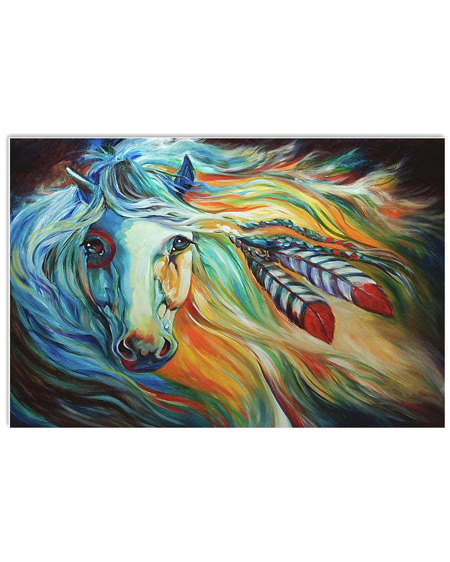 Horse Girl - Colorful horse 17x11 Poster