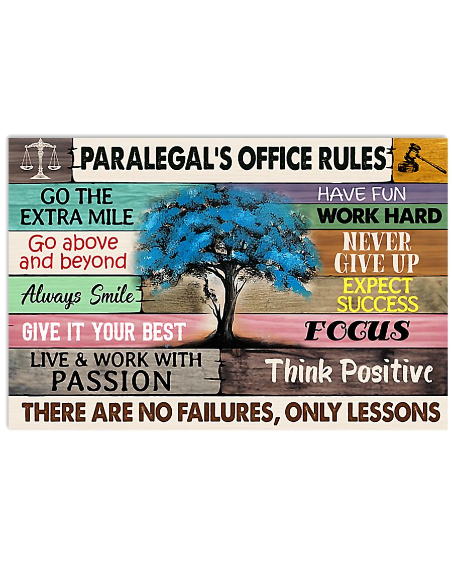 Paralegal's Office Rules 17x11 Poster
