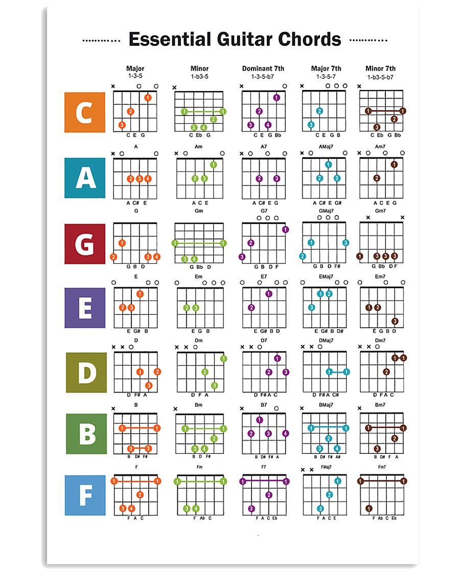 Essential Guitar Chords 11x17 Poster