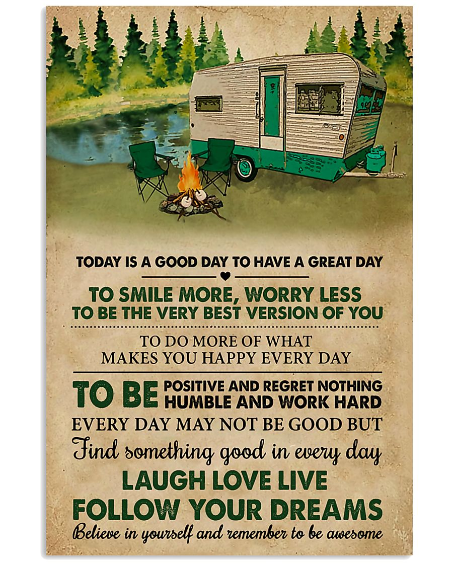 Camping Today Is A Good Day 11x17 Poster