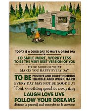 Camping Today Is A Good Day 11x17 Poster front