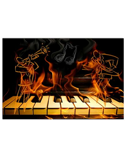 Pianist Piano in fire Poster