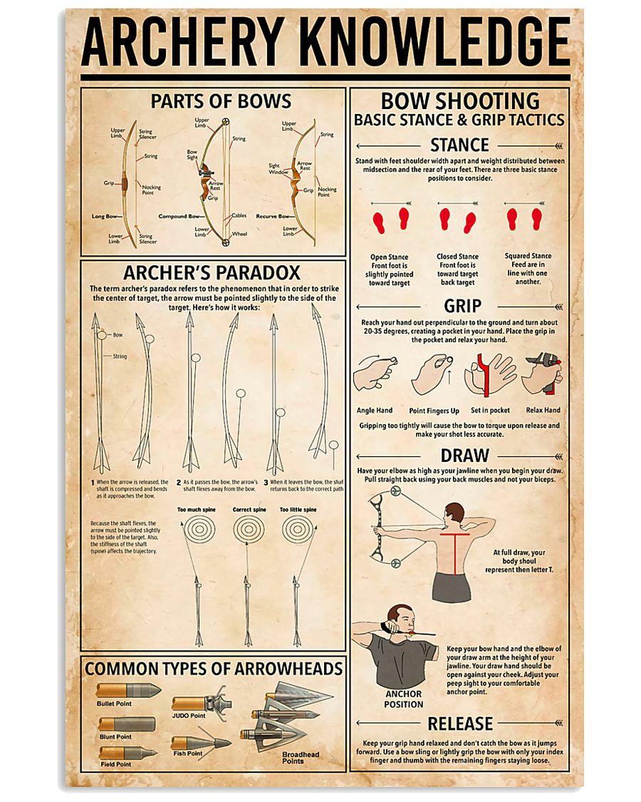Archery knowledge 11x17 Poster